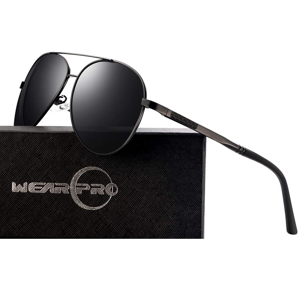 6dbf15715a Aviator Sunglasses for Men Polarized Premium Military Style Classic Fashion  Metal Glasses 100% UV400 Ultraviolet