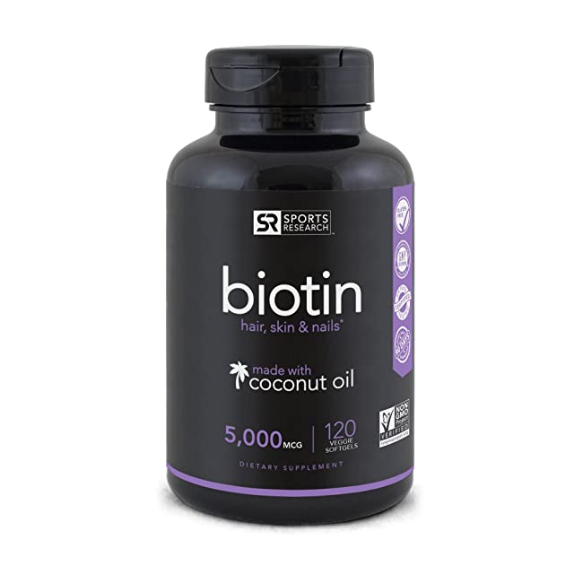 Biotin (High Potency) 5000mcg Per Veggie Softg...