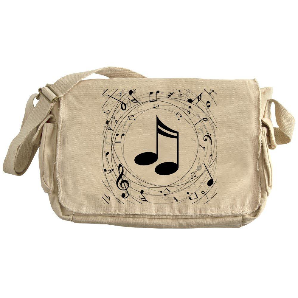 Canvas Courier Bag CafePress Music Notes Unique Messenger Bag