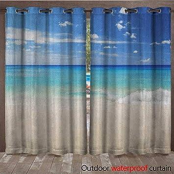 BlountDecor Ocean Home Patio Cortina de Aire Libre Puesta de Sol ...