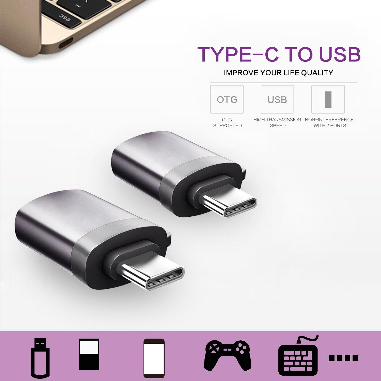 Rodzon - Adaptador USB C Tipo C con Llavero, Adaptador USB-C ...