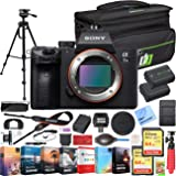 Sony a7 III Full Frame Mirrorless Interchangeable Lens 4K HDR Camera ILCE-7M3 Body Bundle with Deco Gear Travel Bag, 2X…