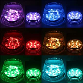 Colored Led Lights >> 8x Remote Control Color Colored Led Light Boundery Style Waterproof Efx Accent