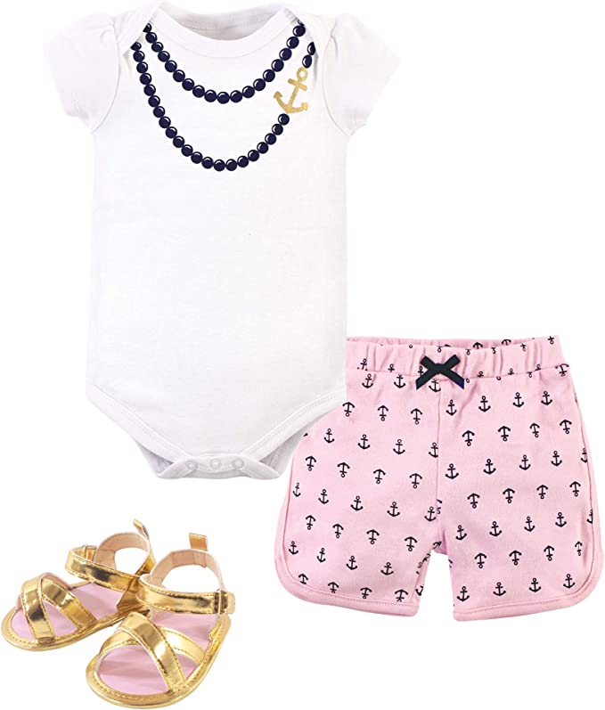 Details about  /Little Treasure Baby Girls/' 3-Pack Bodysuits