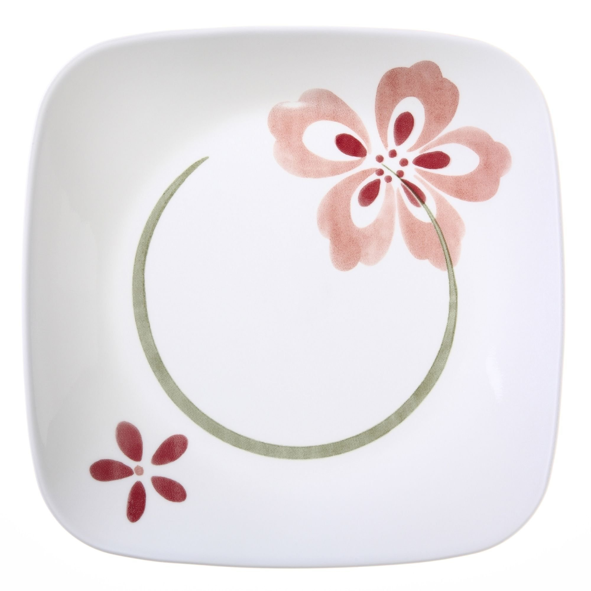"Corelle Square Pretty Pink 8-3/4"" Lunch Plate (Set of 4)"