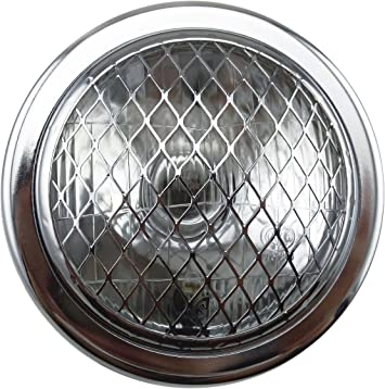 NEW BULLET BICYCLE HEADLIGHT WITH VISOR,CHROME,OLD SCHOOL VINTAGE LOOK