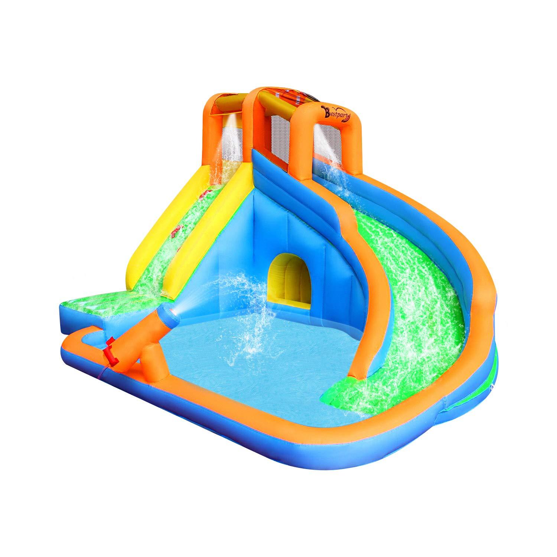 Inflatable Water Slide Pool Bouncy Waterslide for Kids Backyard with Blower