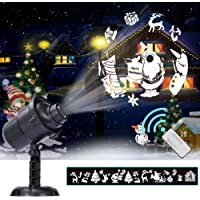 Christmas Decoration Projector, 22 Mode Rotating Projector Spotlight, Waterproof LED Landscape Light Courtyard lighting Outdoor Garden Wall, Decorative Christmas Birthday Party Thanksgiving