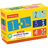 Mudpuppy Counting 1-10 My First Puzzle Pairs – Great for Kids Age 2+ - Includes 10 Sturdy 2-Piece Puzzles – Teaches Problem-S