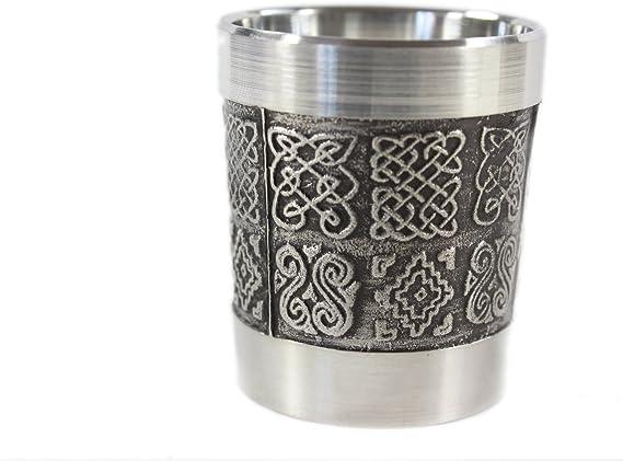 Irish Shot Glass Celtic Knots Pewter 1 Fl. Oz. Made in Ireland