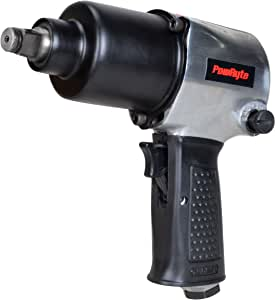 PowRyte 1/2-Inch Air Impact Wrench, 600 ft-lbs, Twin Hammer
