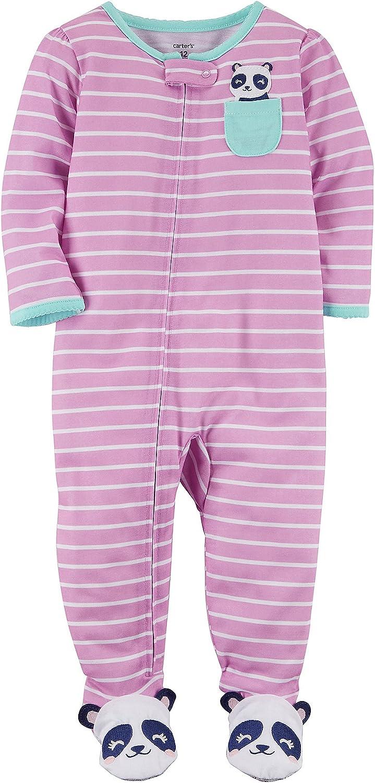 Carters Baby Girls One Piece Panda Pocket Snug Fit Cotton Pajamas