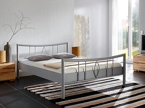 Verschiedene Varianten Liegefl/äche:90 x 200 cm Bettgestell Jugendbett Doppelbett Singelbett Ehebett expendio hochwertiges Metallbett Weda Farben:Sahara Struktur
