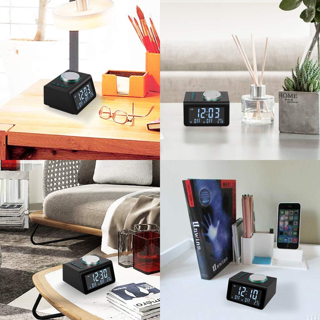 Amazon.com: ANJANK - Radio despertador pequeña con radio FM ...