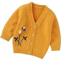 Chaqueta de punto de invierno para niños y niñas con capucha