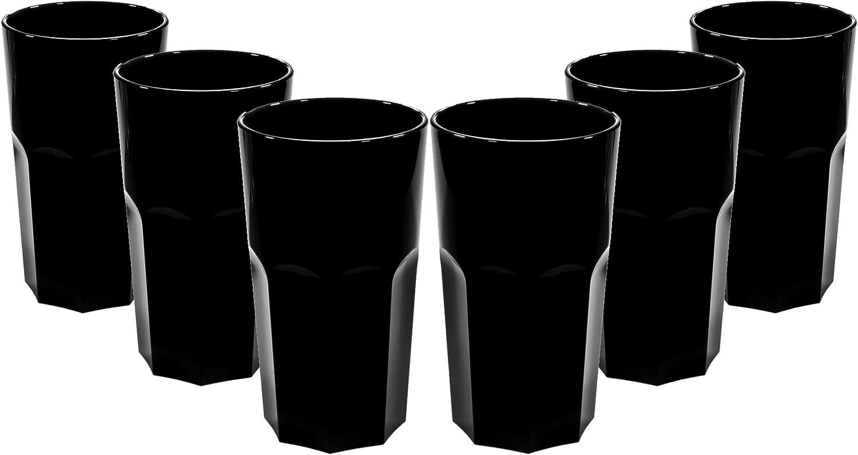 330 ml altezza del bordo 13 cm diametro massimo 7,2 cm alternativa realistica al vero vetro. in policarbonato a forma ottagonale riutilizzabili Set di bicchieri RB da 340 ml. infrangibili