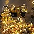 Luces de Estrellas decorativas,3 metros Estrellas Decorativas Blancas de Luz Cálida,Puerto USB Luces para la Navidad,cumpleaños, Halloween, Navidad, habitaciones para bebés,Luces navidad