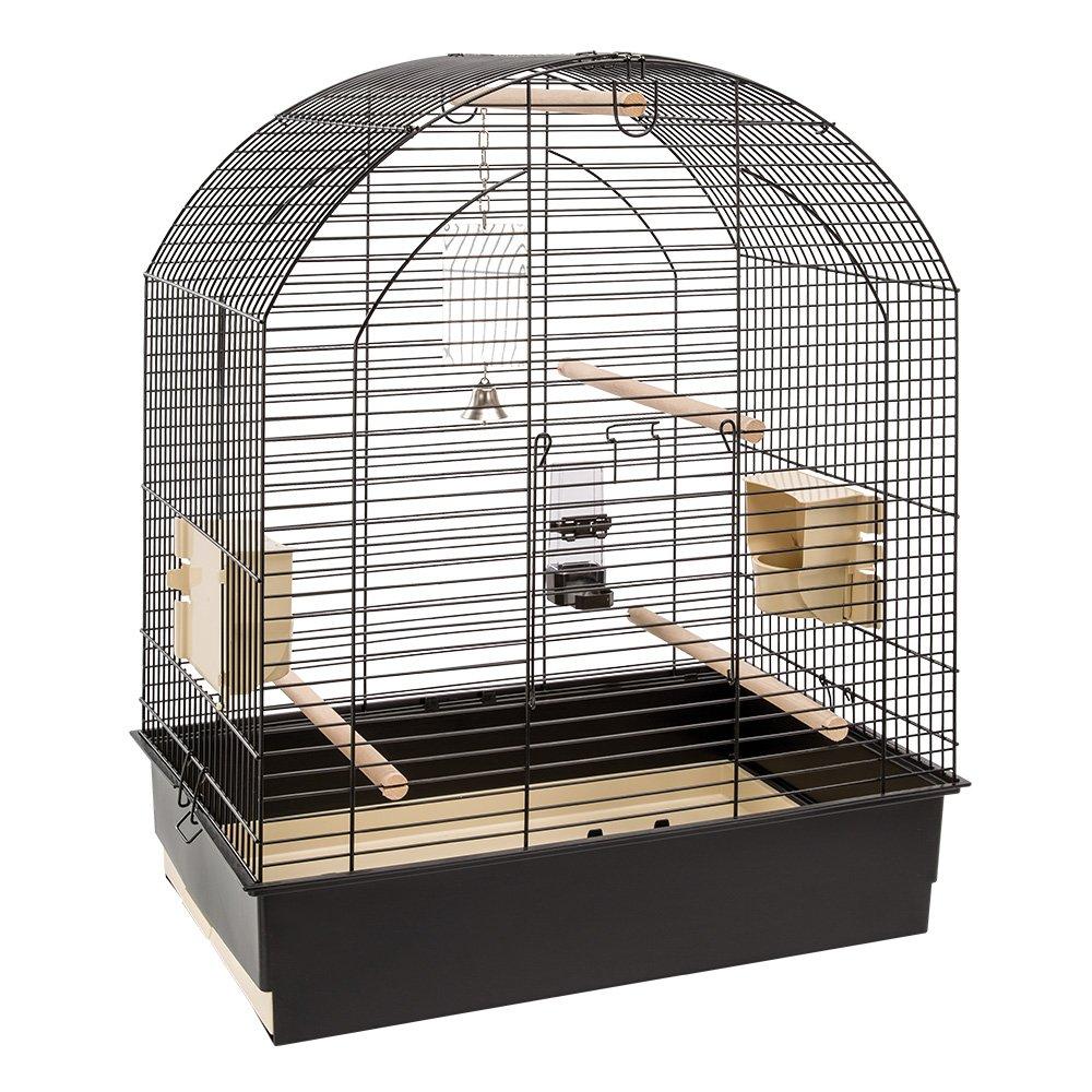 Ferplast Greta Jaula de pájaros, 69,5 x 44,5 x 84 cm, Color Negro ...