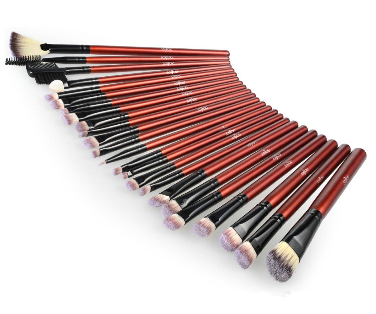 Anjou Makeup Brushes, 24 Pieces Professional Eye Makeup Cosmetics Brush Set, Eyeliner, Eye Shadow, Eye Brow, Foundation, Powder Liquid... by Anjou