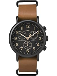 Amazon com: Leather Watches for Him: Clothing, Shoes & Jewelry