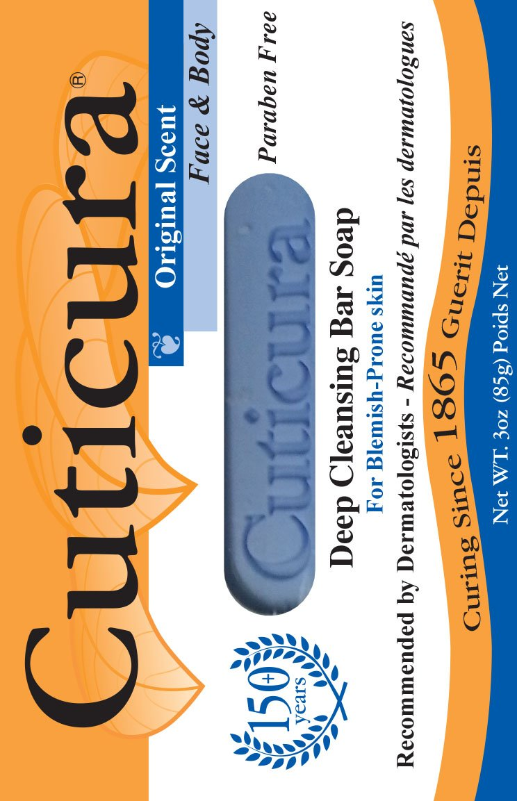 Cuticura Medicated Anti-Bacterial Bar Soap, Original Formula, 3 oz bar (Pack of 6) by Cuticura B003SKGIXM