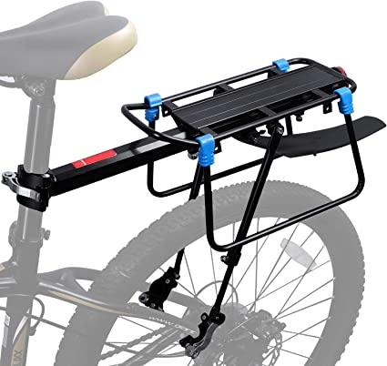 Aluminum Red Bicycle Rear Reflector Tail Light Night Riding For Luggage Rack