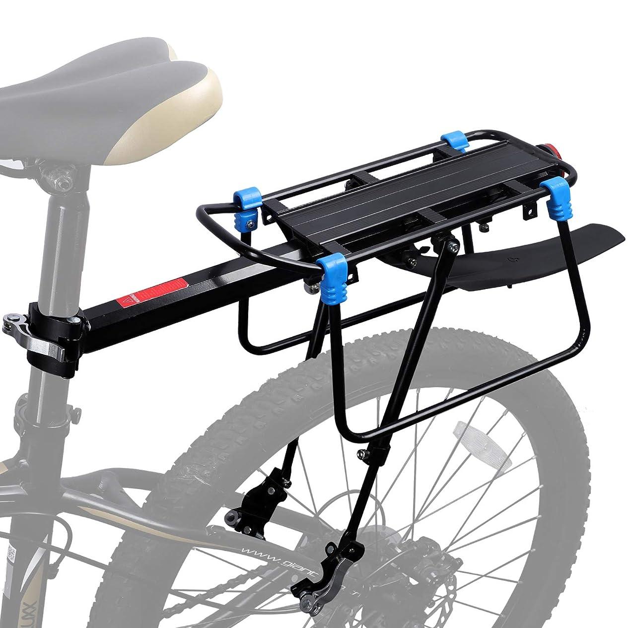 眉をひそめるオフ最初はCOMINGFIT® 超頑丈な自転車キャリアラック、調節可能な自転車荷物貨物ラック、180kgの重さをサポートするための6つの強力なサポートバー