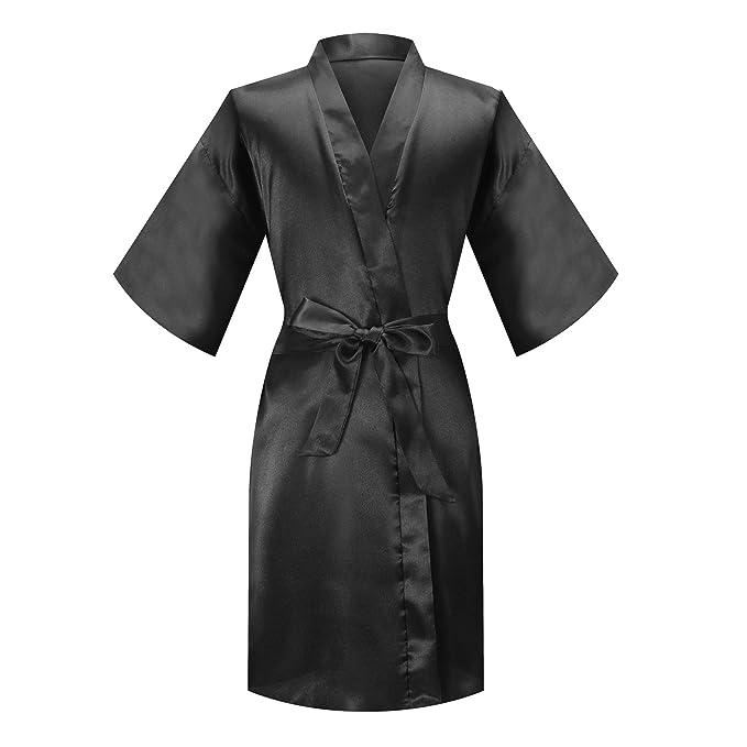 Amazon.com: MORFORU - Kimono de satén sedoso para niñas ...