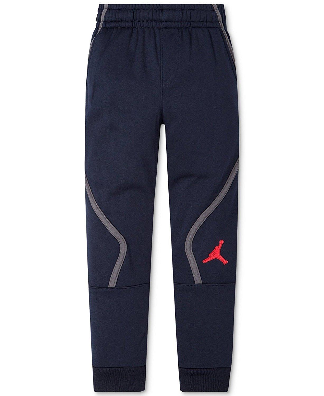 Jordan Boys AJ Victory Therma-Fit Athletic Jogger Pants Size 6, 7 (6, Obsidian)