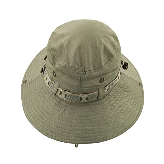a5a833a5 LETHMIK Camouflage Hat Summer Fishing Sun Hat UV Protection Outdoor Boonie  Hat Beige: Amazon.co.uk: Sports & Outdoors