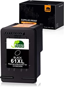 JARBO Remanufactured Ink Cartridge Replacement for HP 61XL 61 XL 61 Black Ink Cartridge, 1 Black, for HP Envy 4500 5535 Deskjet 1000 1010 1055 1512 2510 2512 2544 2549 3000 3510 3050A Officejet 4635