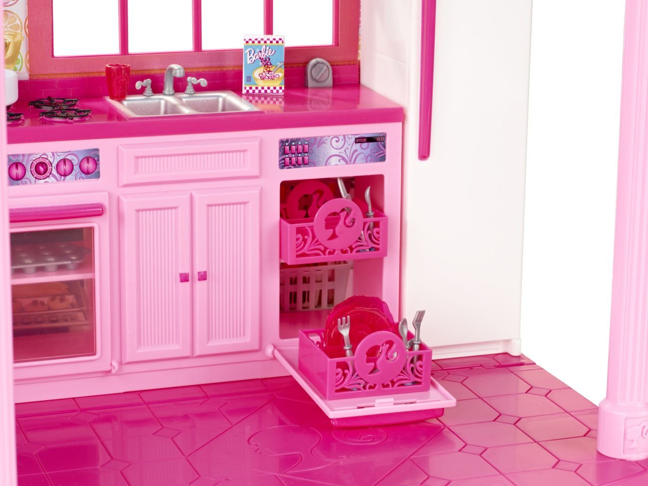 Barbie Kitchen Furniture Amazoncom Barbie 3 Story Dream Townhouse Toys Games