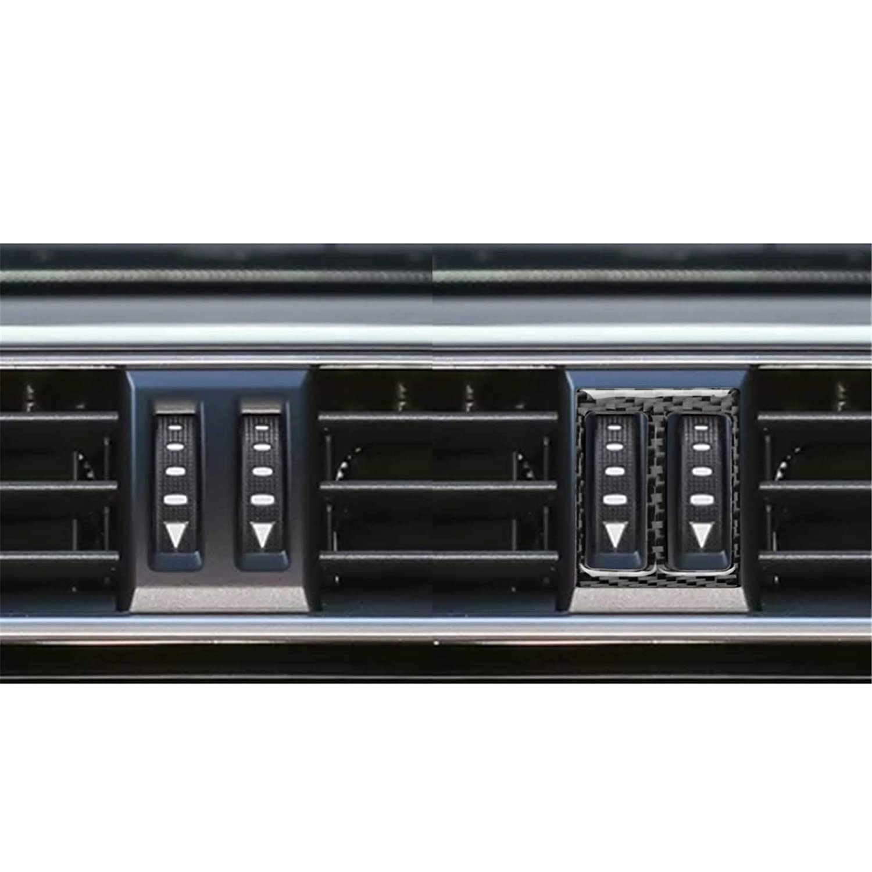 hors Carbon Fiber Instrument Dashboard Air Conditioning AC Air Vent Outer Panel Frame Decal Cover Trim for Toyota Land Cruiser Prado 2010-2018