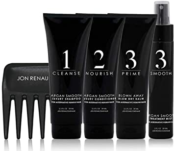 Amazon Com Jon Renau Human Hair Wig Care Travel Kit 5 Piece Set Luxury Shampoo Luxury Conditioner Treatment Mist Blow Dry Balm Wide Tooth Comb Beauty
