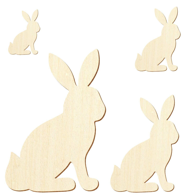 Holz Holz Holz Häschen Hase sitzend - 3-50cm Streudeko Basteln Deko Wanddeko, Pack mit 10 Stück, Größe 28cm B07PYZ9ZRH | Schöne Farbe  3c18ff