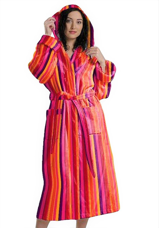 BEMAR Accappatoio Uomo Donna Multicolore in Morbida Spugna SCATOLATO Resistente nel Tempo e con Rifiniture di qualit/à Disponibile in Due Colori Realizzato in mordida Spugna