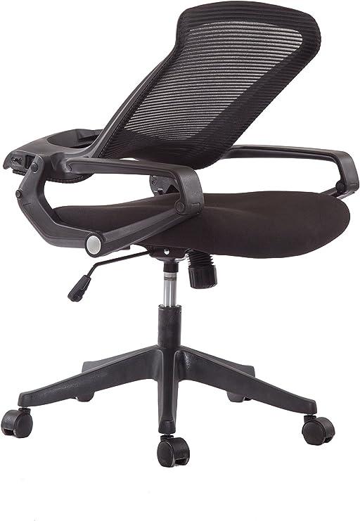 Amazon Com 5 Minutes Completely Easy Installation Ergonomic Office Foldable Folding Swivel Home Mesh Back Task Chair Black Furniture Decor