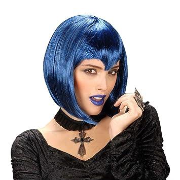 Azul para mujer de la peluca de la peluca para mujer con diseño de dinamita de