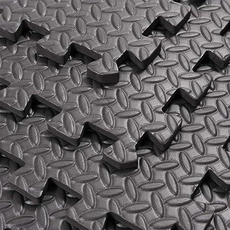 2 x 2 FT INTERLOCKING EVA FOAM FLOOR MATS TILES GYM GARAGE WORKSHOP 60 x 60 CM