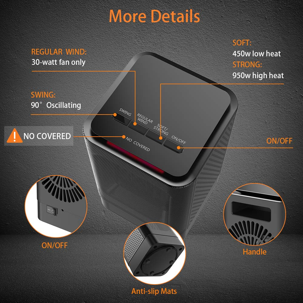 Small Space Heater Versiontech Personal Portable Mini Electric Diagram Details