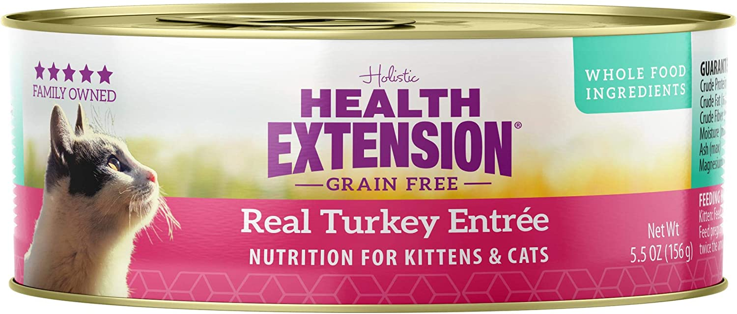 Health Extension Grain Free Turkey Entree Canned Wet Cat Food - (24) 5.5 Oz Cans