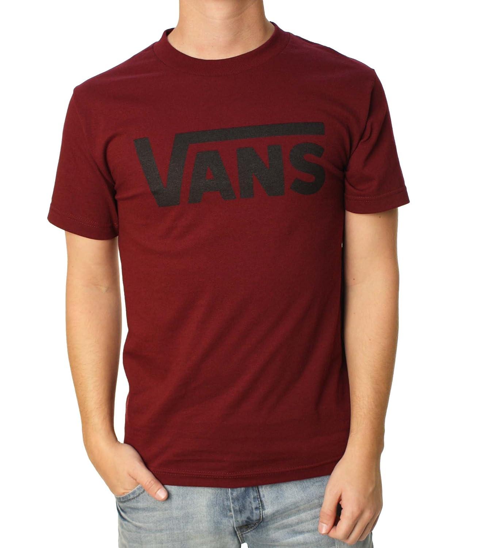 Vans Tシャツ – VansクラシックTシャツ – ブラック/ホワイト B00EVAYHPO Large|Burgundy/Black Burgundy/Black Large