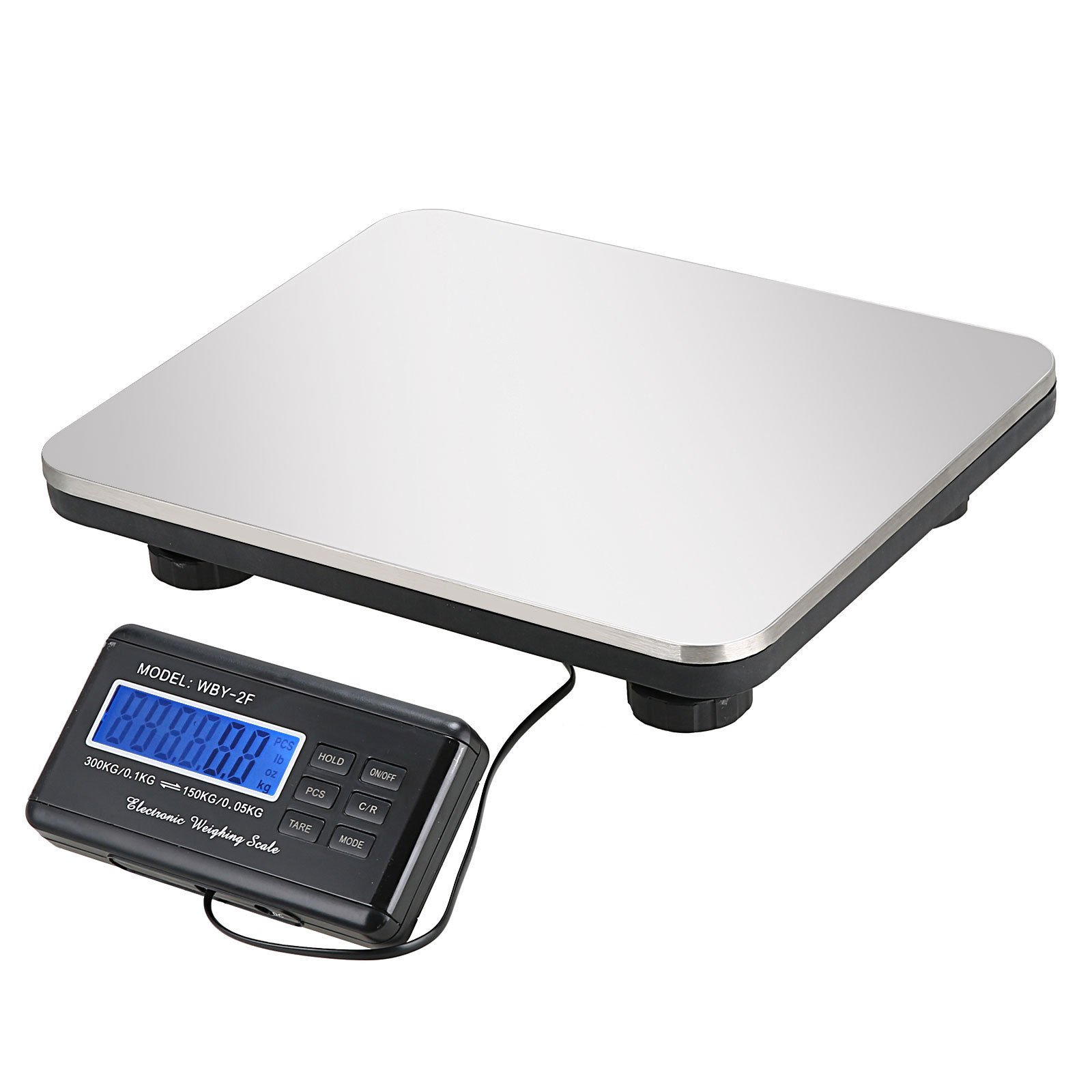 660lbs LCD Digital Floor Bench Scale Postal Shipping for Pet 300KG Weight ( USA Stock ) by evelove