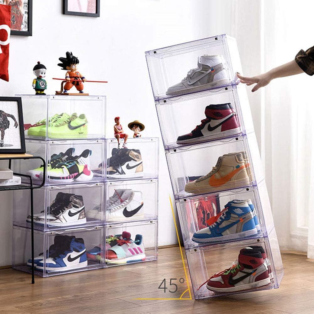 WDDLD Caja De Zapatos,Zapatero Vitrina Transparente De 360 ...