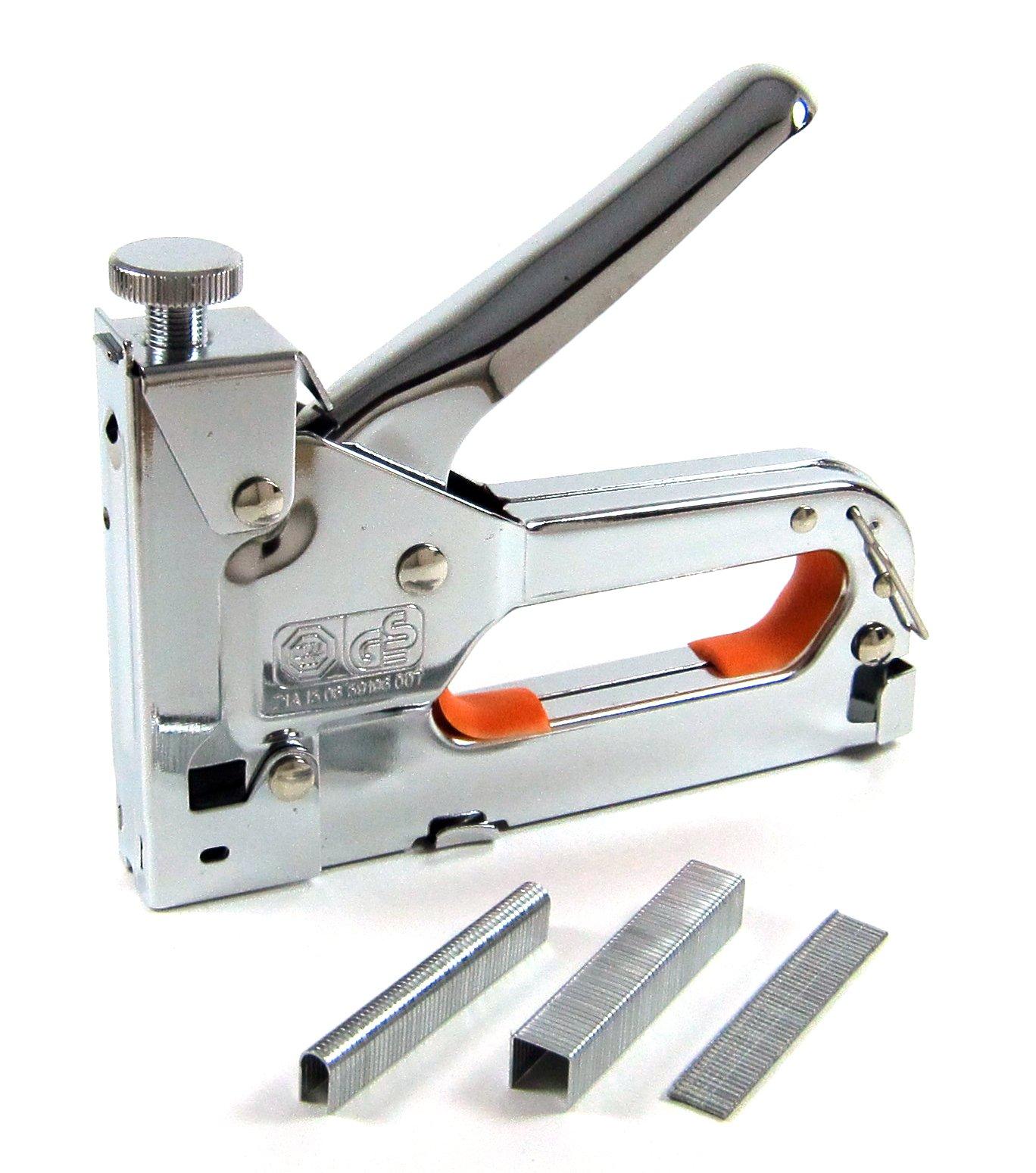 3 Way Staple Gun, Elitexion Three Way Tacker Staple Gun Kit