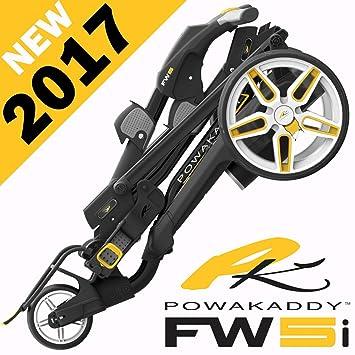 """nuevo 2017"" Powakaddy fw5i negro carro de golf eléctrico + 18 HOLE batería"