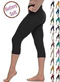 LMB Extra Soft Capri Leggings with High Yoga Waist - 20+ Best Selling Colors - Plus