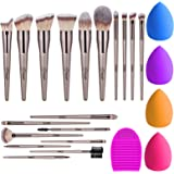 BESTOPE 18Pcs Makeup Brushes Set, 4Pcs Beauty...