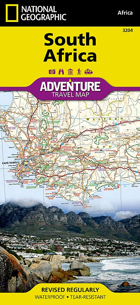 Maps South Africa.South Africa National Geographic Adventure Map National