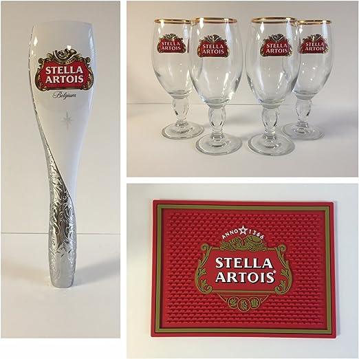 "Stella Artios Belgium Beer 12/"" Tap Handle"